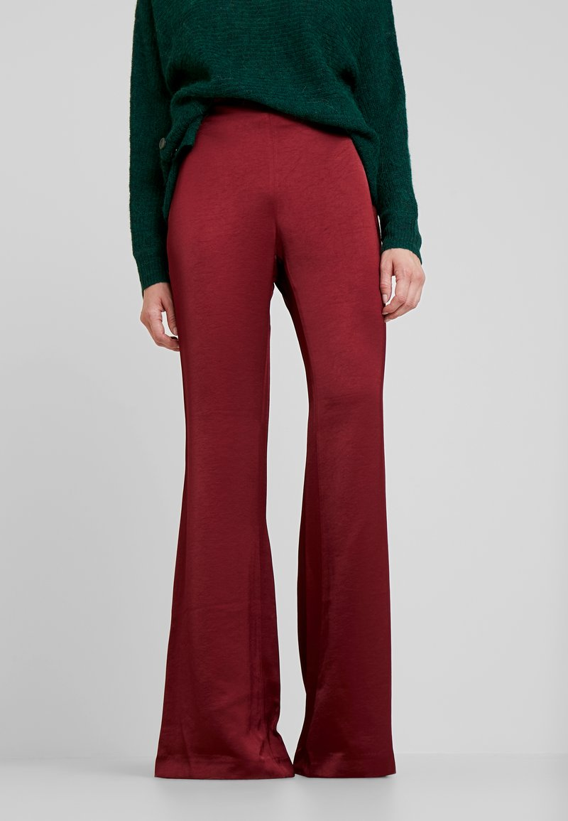 Pedro del Hierro - FLOWING TROUSER - Stoffhose - reds