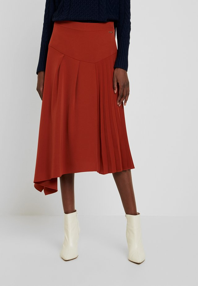 ASYMMETRIC SKIRT - A-Linien-Rock - reds