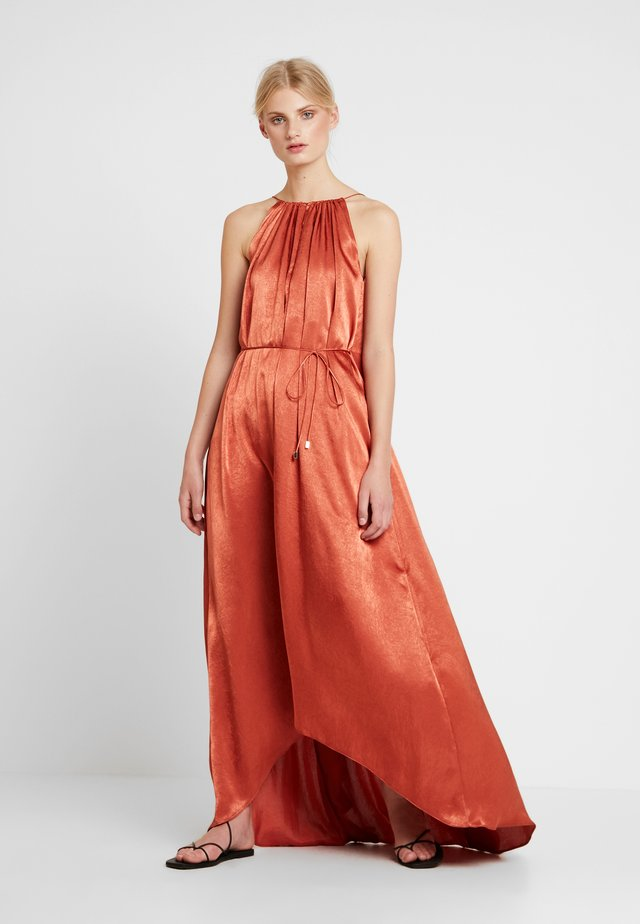 LONG RUFFLED DRESS - Maxikleid - reds