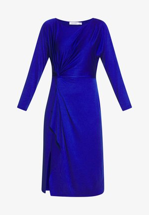 DRESS WITH GATHERING - Cocktailkjole - dark blue