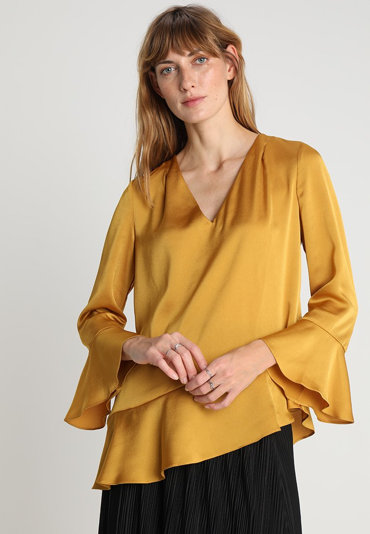 Pedro del Hierro - FRILLED TUNIC - Bluse - yellow