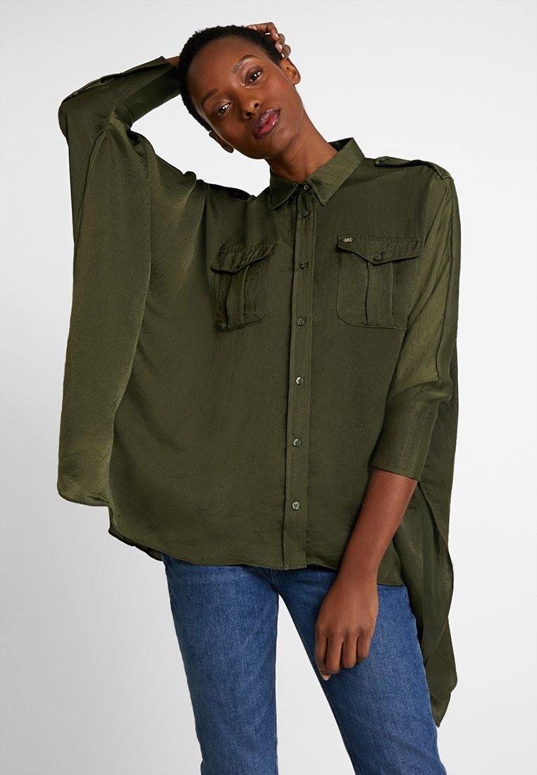 Pedro del Hierro - OVERSIZE BLOUSE WITH POCKETS - Skjortebluser - greens
