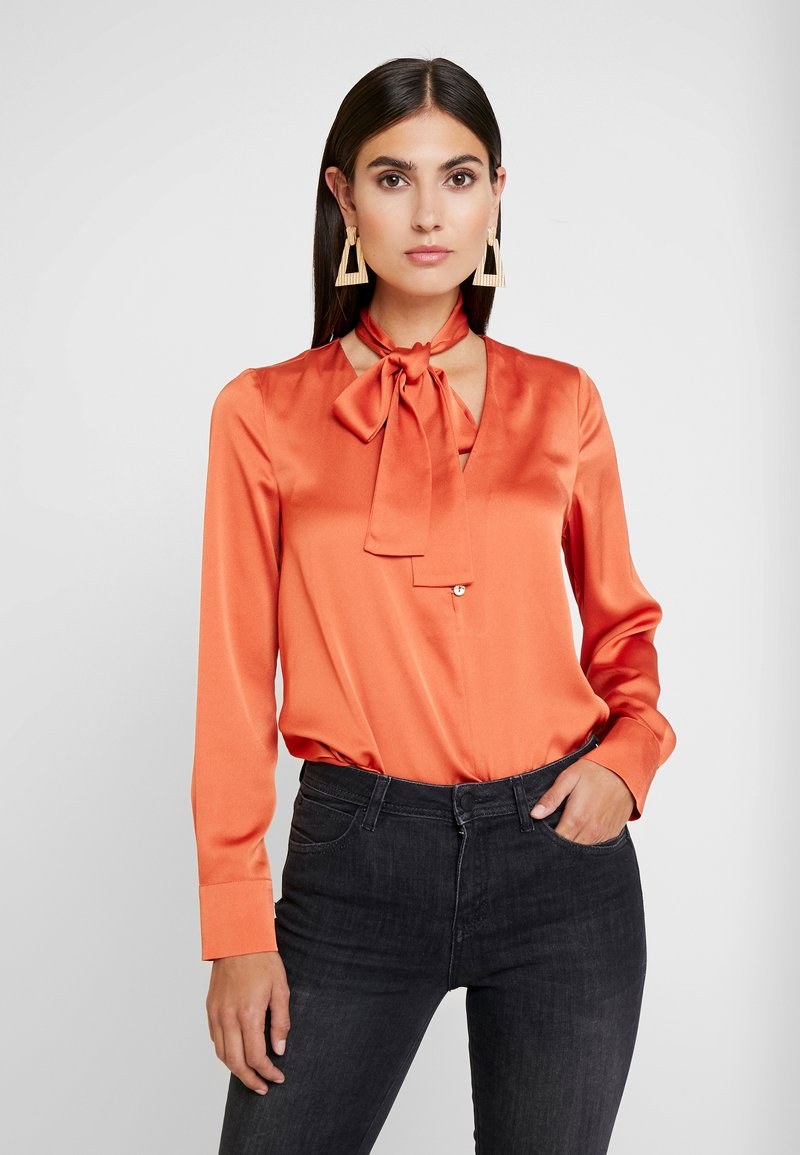 Pedro del Hierro - TUNIC WITH BOW - Blouse - reds