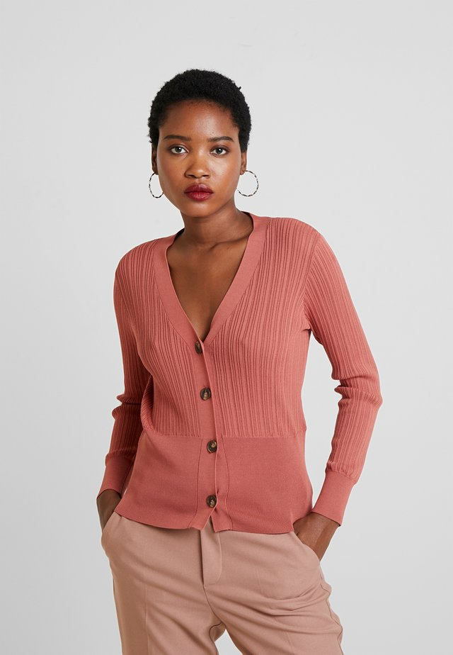 SHORT CARDIGAN WITH BUTTONS - Cardigan - pinks