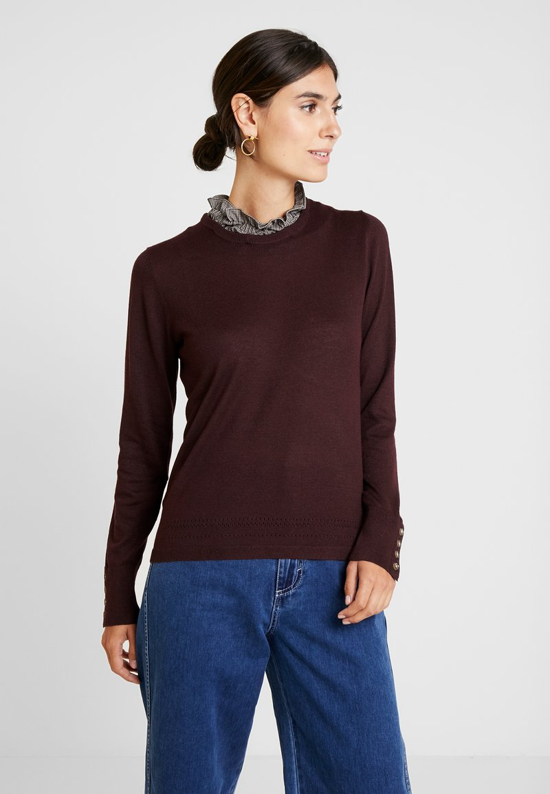Pedro del Hierro - FABRIC SWEATER - Jumper - bordeaux