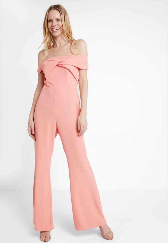 OFF SHOULDER - Jumpsuit - apricot