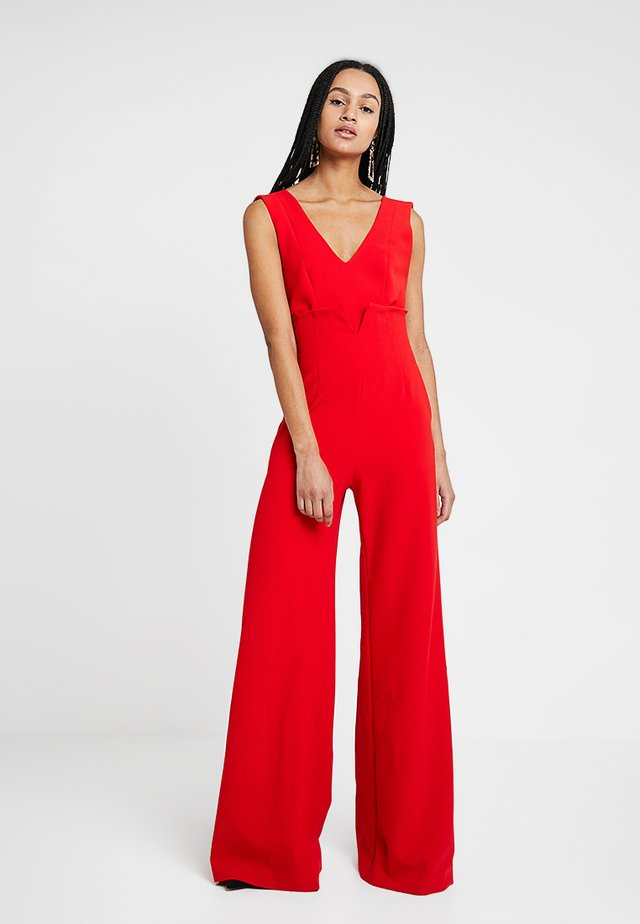 V NECK - Jumpsuit - reds