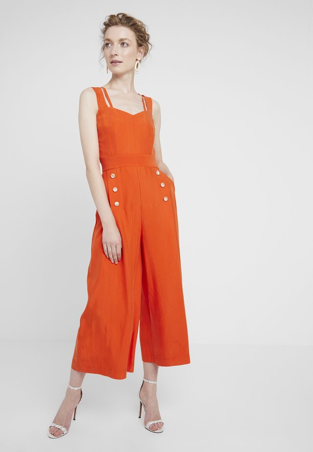 WITH STRAPS AND BUTTONS - Jumpsuit - orange
