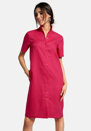 KLEID AUS LEINEN - Shirt dress - zyklam
