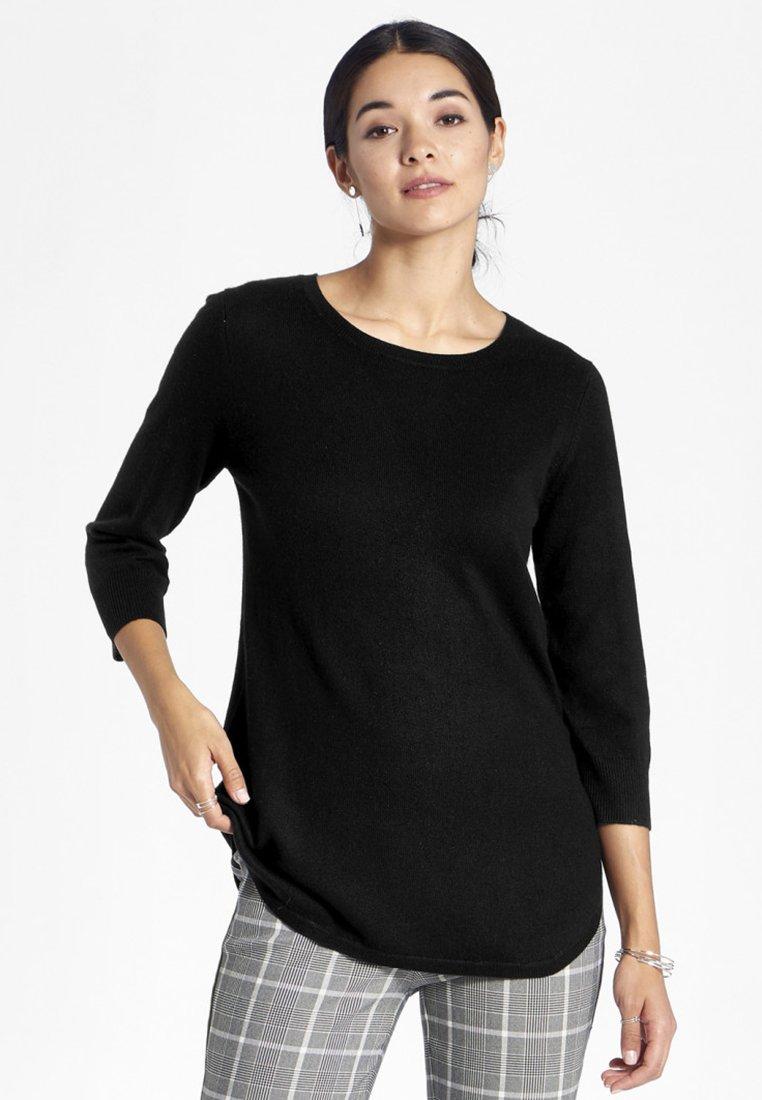 PETER HAHN - Langærmede T-shirts - black