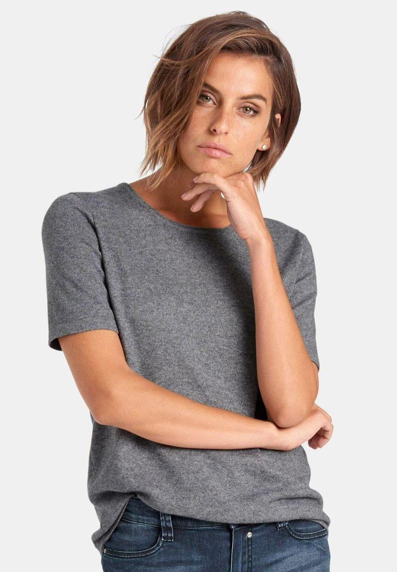 PETER HAHN - T-shirt basic - grey
