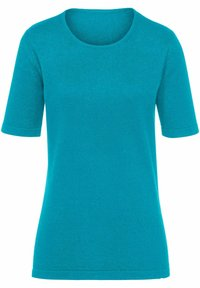 PETER HAHN - T-shirt basic - azur - 0