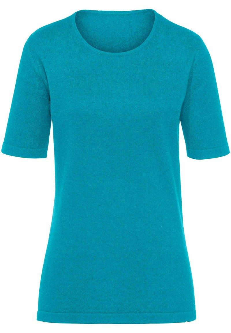 PETER HAHN - T-shirt basic - azur