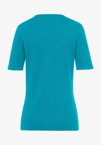 PETER HAHN - T-shirt basic - azur - 1