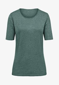 PETER HAHN - T-shirt basic - green melange - 5