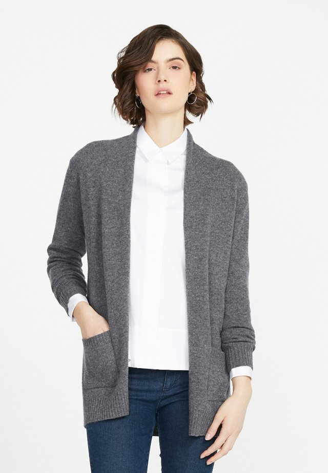 Strikjakke /Cardigans - medium grey
