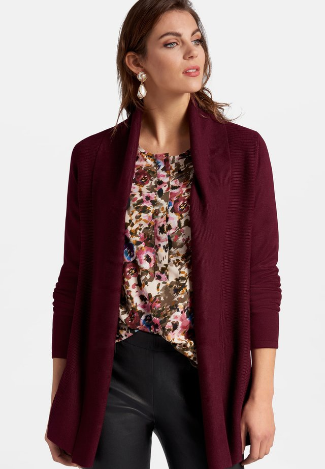 Cardigan - burgundy