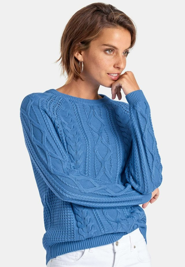 Strikpullover /Striktrøjer - gentian blue