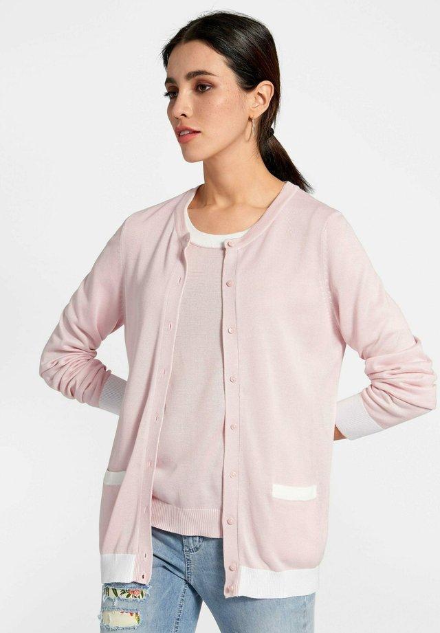 TWINSET TWINSET - Strikjakke /Cardigans - rosé/weiß