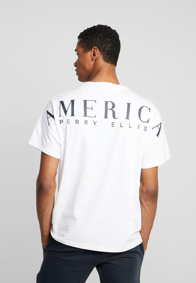Perry Ellis America - ON THE BACK - T-shirt imprimé - bright white
