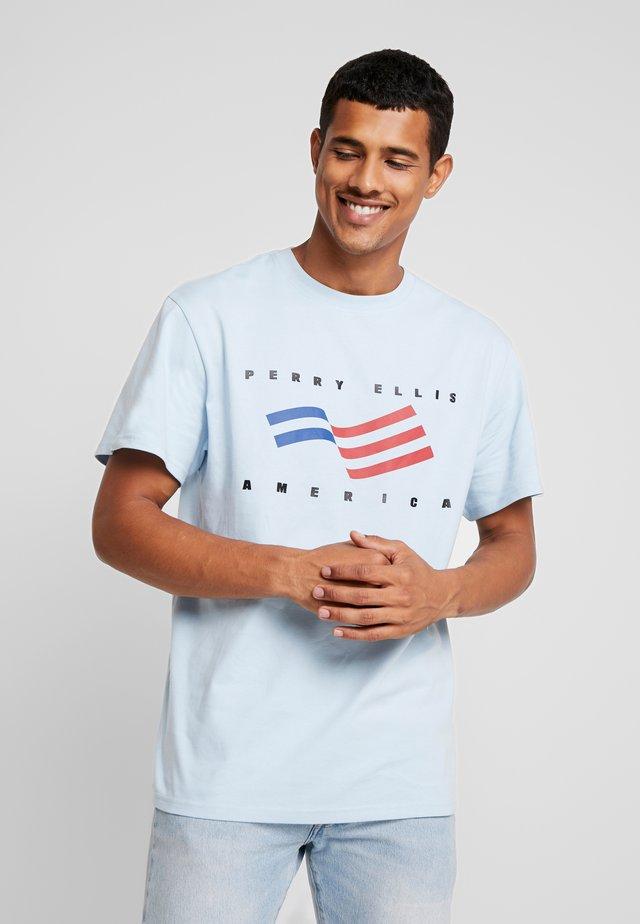 FLAG  - T-Shirt print - cerulean