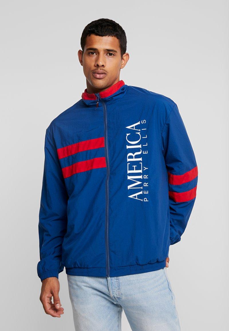 Perry Ellis America - STRIPE TRACK - Training jacket - estate blue