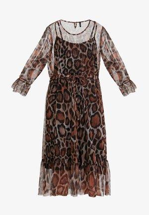 ANIMAL DRESS - Freizeitkleid - brown