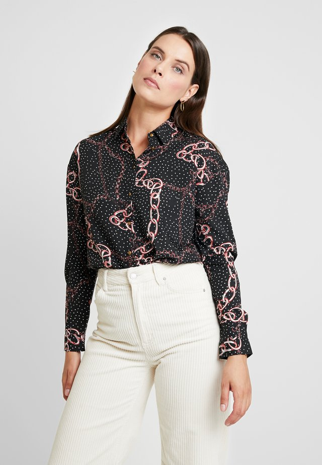 LATHISIA - Button-down blouse - black
