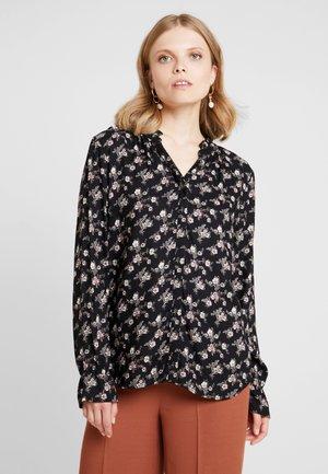 FLOWER PRINT - Camicia - black combi