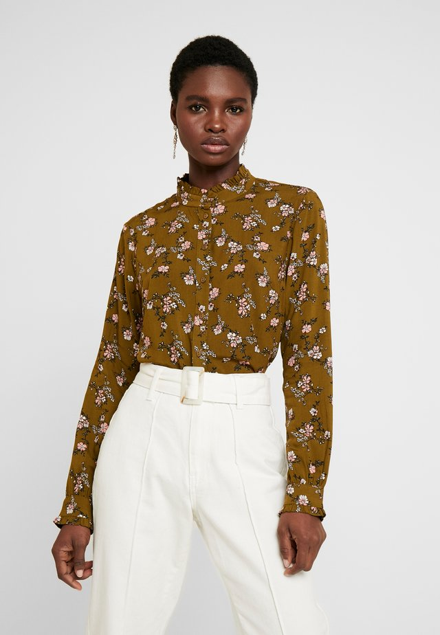 EMANUELE FLOUNCE - Button-down blouse - nutria