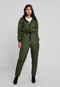PEPPERCORN - SNOWSUIT HARLEQUIN ONE PIECE - Jumpsuit - dark green - 0