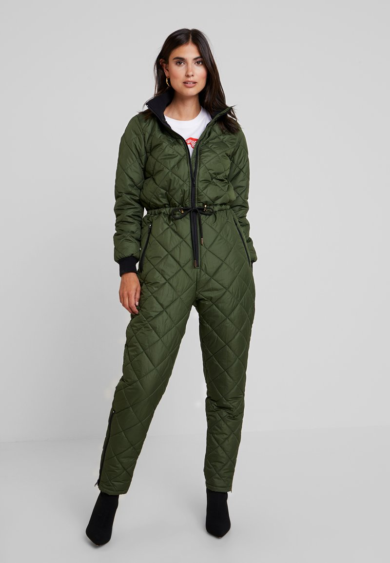PEPPERCORN - SNOWSUIT HARLEQUIN ONE PIECE - Jumpsuit - dark green