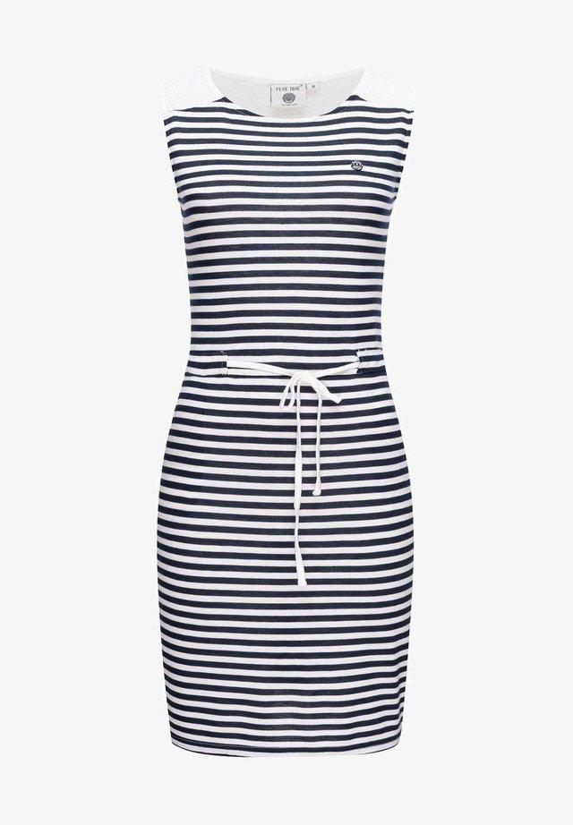 Day dress - navy stripes