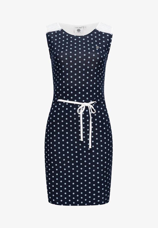 Day dress - navy dots