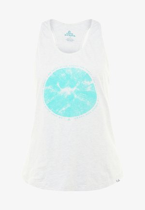 GRAPHIC TANK - Linne - white forest