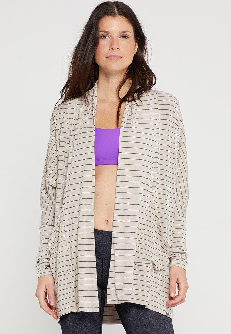PrAna - FOUNDATION WRAP - Zip-up hoodie - pebble grey heather