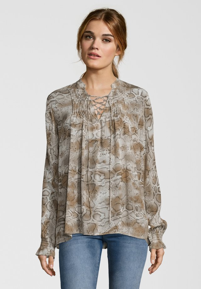 MIT SCHLANGEN-PRINT - Tunic - brown