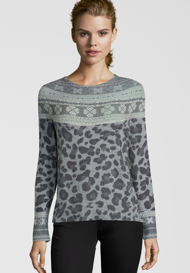MIT MUSTER-MIX - Jumper - gray