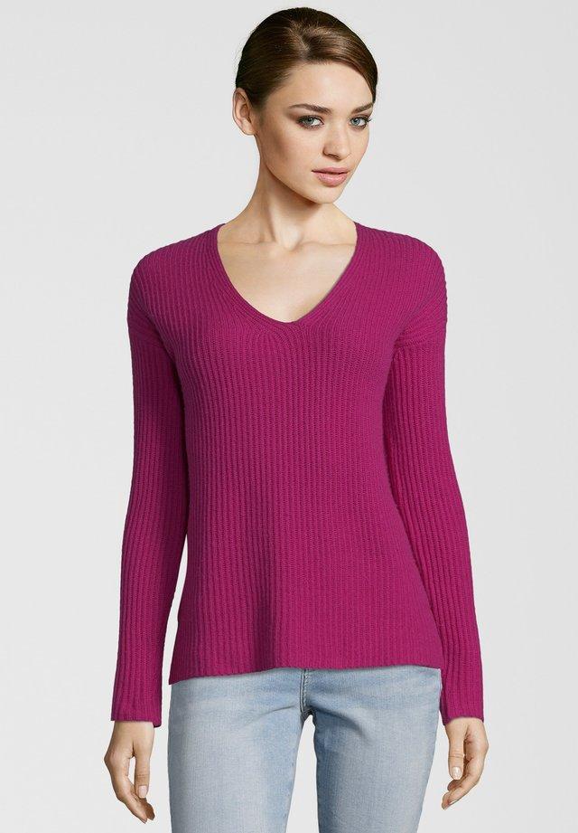 MIT V-AUSSCHNITT - Pullover - berry