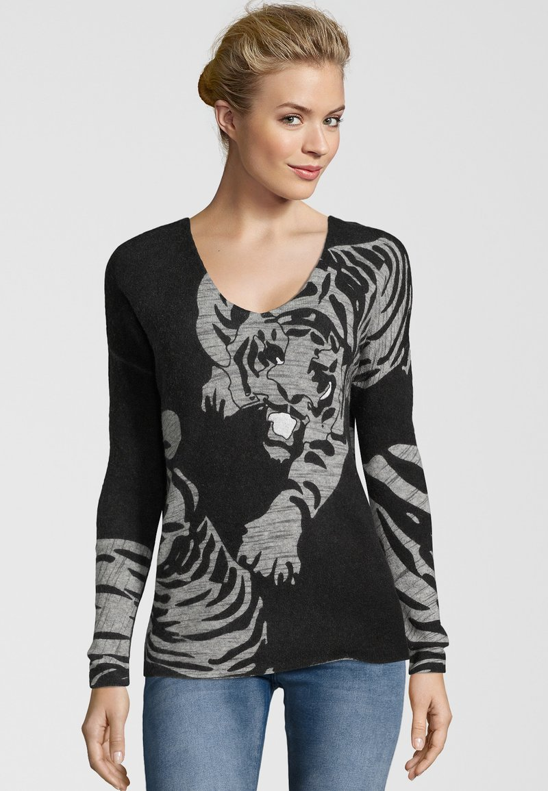 Princess goes Hollywood - MIT ANIMALFRONT - Pullover - nero