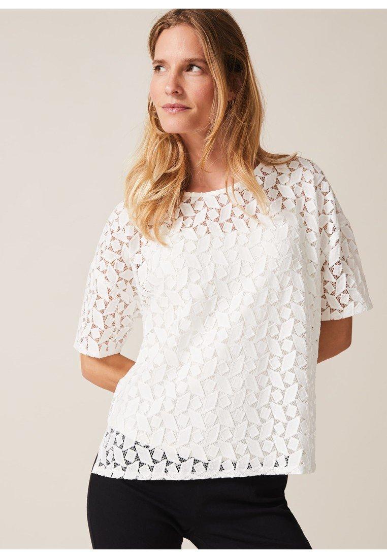 Phase Eight - T-Shirt print - ivory