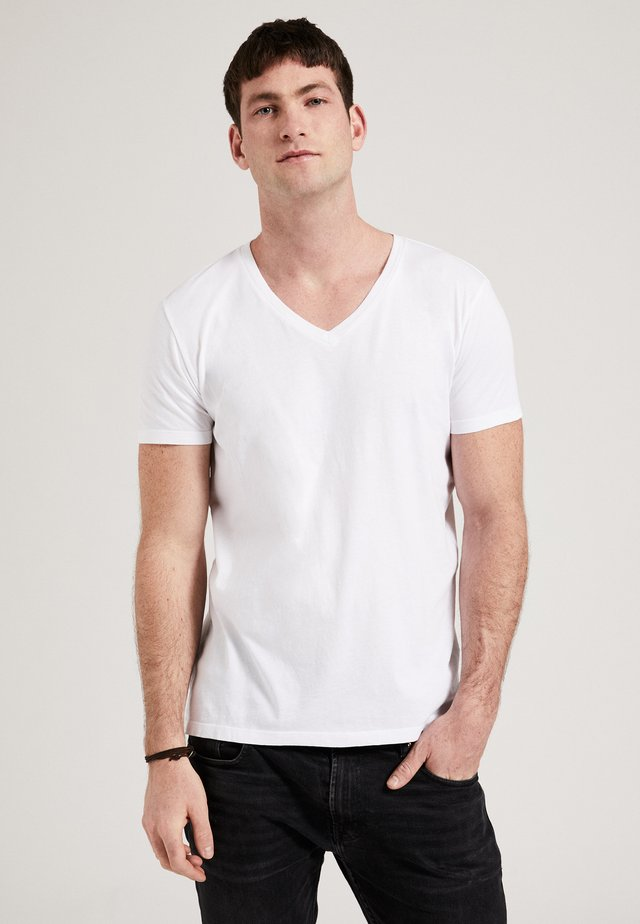 THE V-NECK - T-shirt basic - white