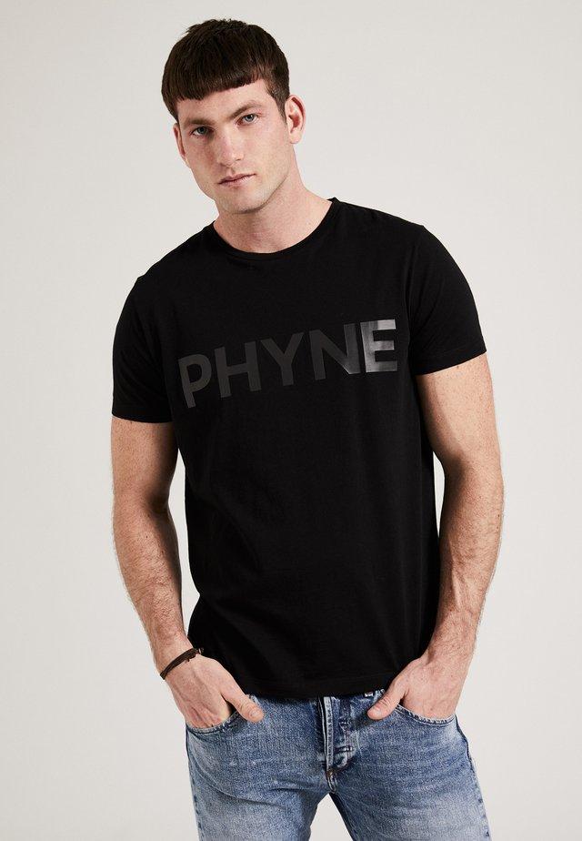 THE STATEMENT PHYNE - T-shirt print - black