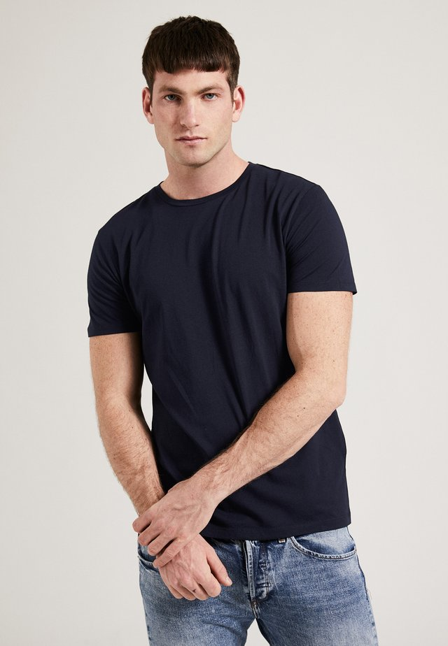 THE ROUND NECK - T-shirt basic - navy