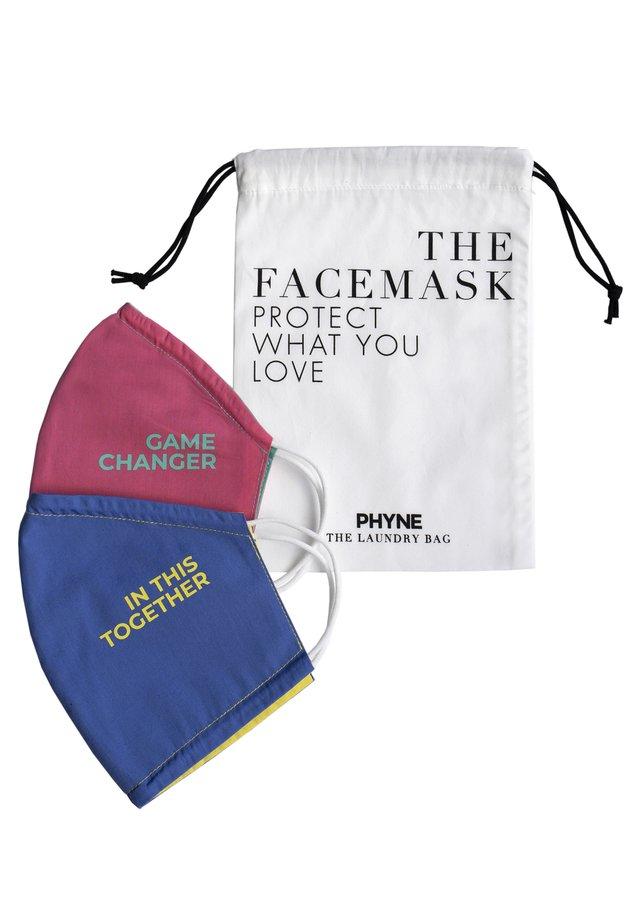 2 PACK - Community mask - maske 1: pink/grünmaske 2: blau/gelbwäschebeutel: offwhite