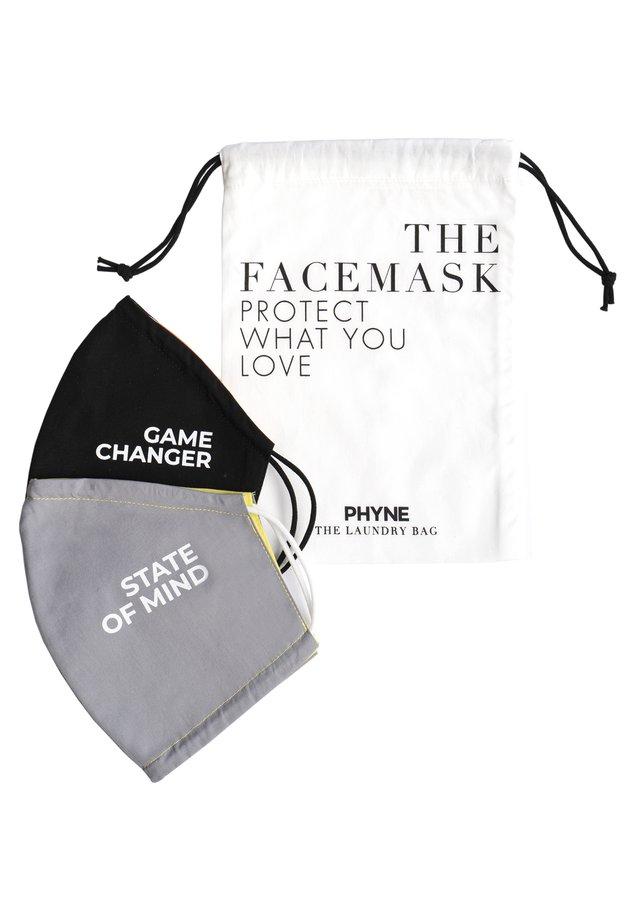 2 PACK - Community mask - maske 1: grau/gelbmaske 2: schwarz/orangewäschebeutel: offwhite