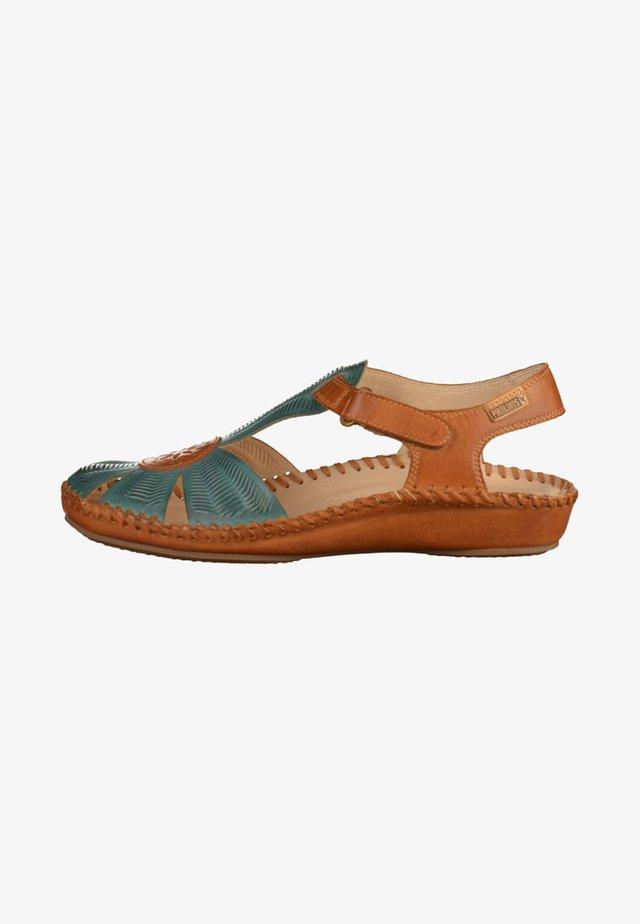 Ankle cuff sandals - petrol