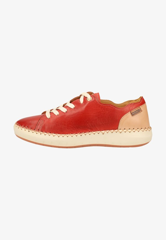Casual lace-ups - coral