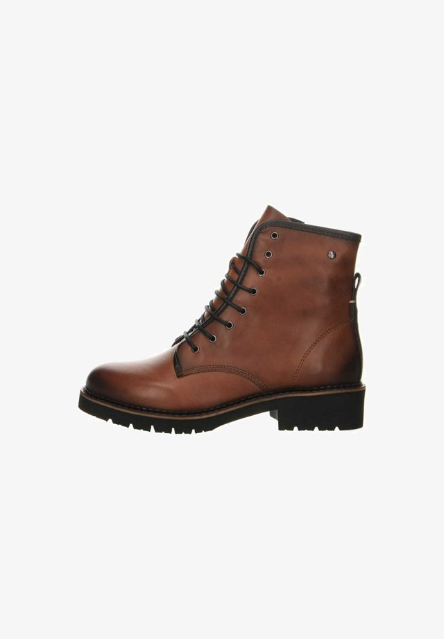 Lace-up ankle boots - mittel-braun