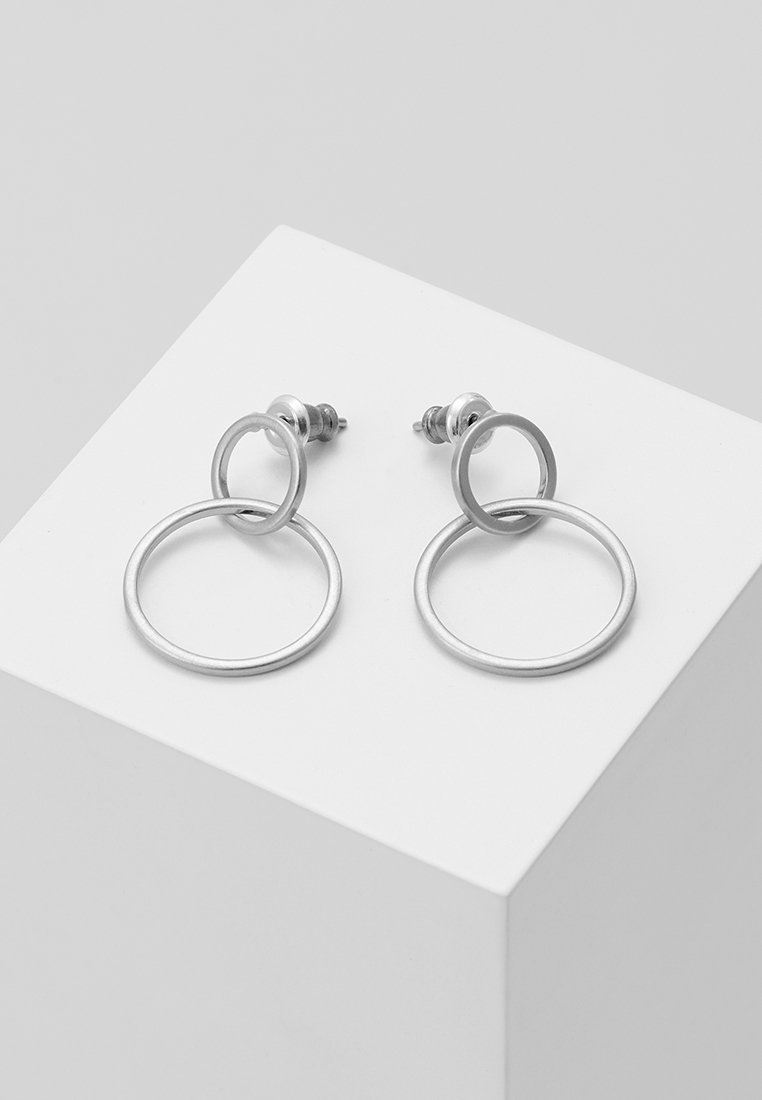 Pilgrim - EARRINGS HARPER - Pendientes - silver-coloured